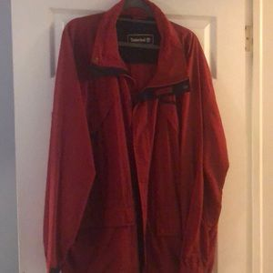 Red Timberland Windbreaker size large